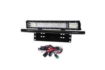 LIGHTFOX 20inch Philips LED Light Bar Spot Flood Work Driving Bar 23'' Number Plate Frame