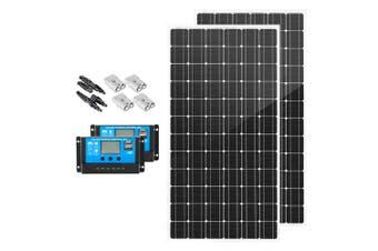 ATEM POWER 500W 12V Mono Solar Panel Kit Caravan Power Battery Charging Pair 250w