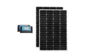ATEM POWER Pair 12V 130W Solar Panel Kit Mono Generator Caravan Battery Charging 130watt
