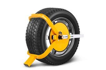 "ATEM POWER Wheel Defender Lock Clamp 13"" 14"" 15"" Car Caravan Trailer 195mm-235mm Heavy Duty"