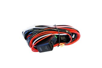 LIGHTFOX Heavy Duty LED Light Bar Wiring Loom Harness 40A Switch Relay Kit 12V for Toyato