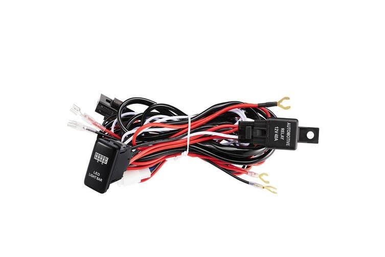 Lightfox Wiring Loom Harness 40a Switch Relay Kit 12v Toyota Led Light Bar Push Switch Kogan Com