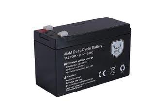 ATEM POWER 12AH AMP Hour Battery 12V AGM SLA Deep Cycle Dual Fridge Solar Power 12 Volt