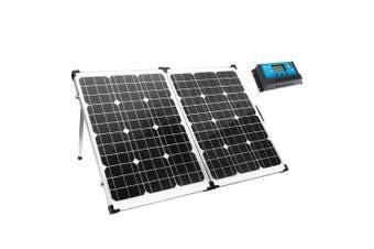 MEGAVOLT 12V 160W Folding Solar Panel Kit Caravan Boat Camping Power Mono Charging Home