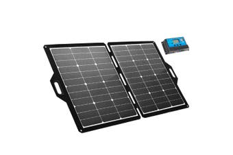 ATEM POWER 120W 12V Folding Solar Panel Blanket kit Camping Boat Battery Charging