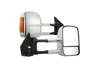 SAN HIMA Pair Towing Mirrors for Toyota Landcruiser 200 Series 2007-ON