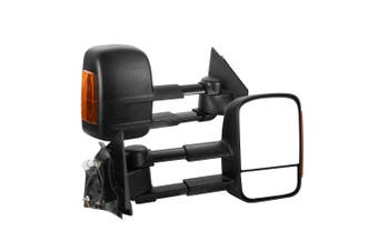 SAN HIMA Pair Towing Mirrors Extendable for Mazda BT-50 2012-ON w/ Indicators