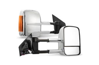 SAN HIMA Pair Extendable Towing Mirrors for Mazda BT50 2012-Current W/ Indicators