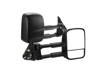 SAN HIMA Extendable Towing Mirrors fit Nissan Patrol GU Y61 1997- 2016 Black