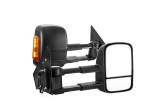 SAN HIMA Pair Extendable Towing Mirrors for Toyota Landcruiser 200 Series 2007-ON