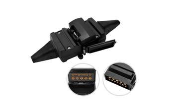 SAN HIMA 12 Pin Flat Adaptor Trailer Socket Plug Set Connector Trailer Caravan Camper
