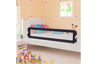 Toddler Safety Bed Rail Grey 180x42 cm Polyester