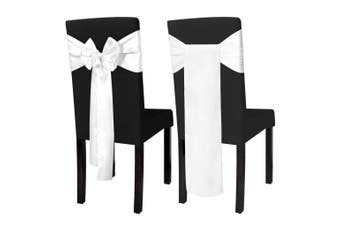 25 pcs White Satin Decorative Chair Sash