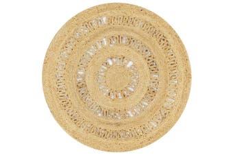 Handmade Rug Braided Jute 90 cm