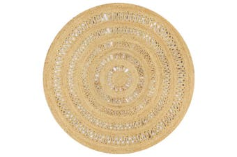 Handmade Rug Braided Jute 150 cm
