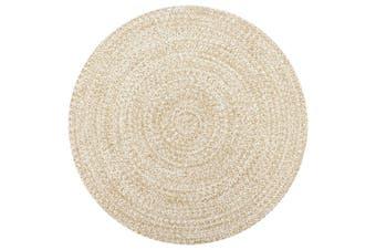 Handmade Rug Jute White and Natural 150 cm