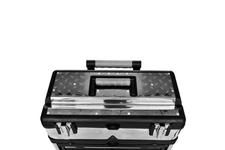 3-Part Rolling Tool Box with 2 Wheels