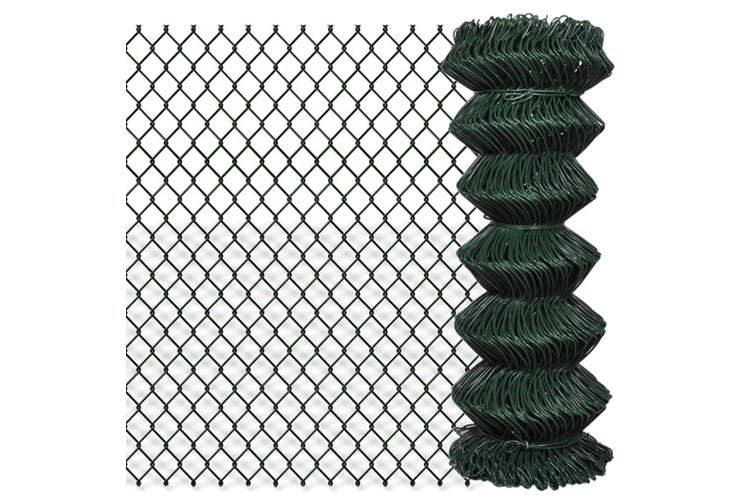 140344  Chain Link Fence Steel 1x15 m Green