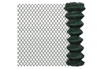 140345  Chain Link Fence Steel 1,25x15 m Green