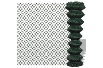 140346  Chain Link Fence Steel 1,5x15 m Green