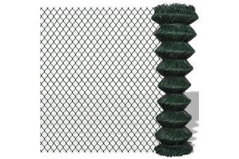 140351  Chain Link Fence Steel 1,5x25 m Green