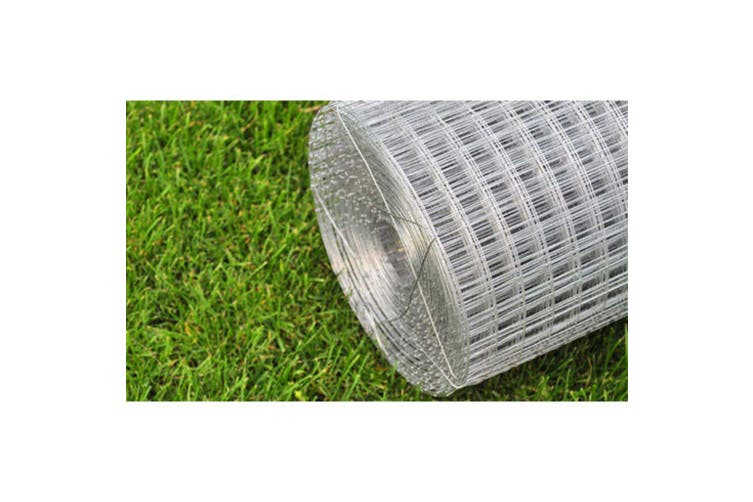 Chicken Wire Fence Galvanised Steel 25x1 m Silver