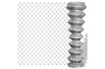 Chain Link Fence Galvanised Steel 25x1.25 m Silver