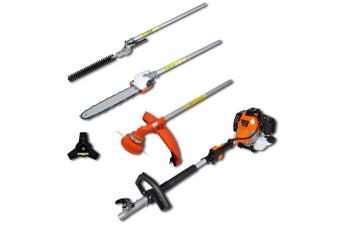 4-in-1 Multi-tool Hedge&Grass Trimmer, Chain Saw, Brush Cutter