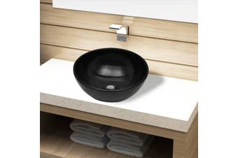 Ceramic Bathroom Sink Basin Black Round