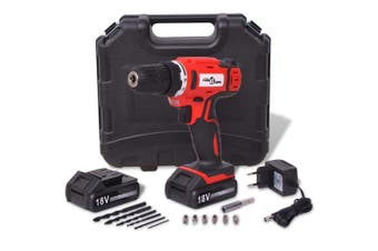 Cordless Drill Driver Kit with 18 V Li-ion Batteries