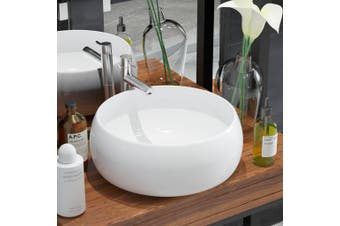Basin Round Ceramic White 40x15 cm