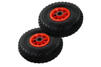Sack Truck Wheels 2 pcs Rubber 3.00-4