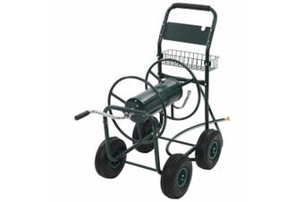 """Garden Hose Trolley with 1/2"""" Hose Connector 75 m Steel"""