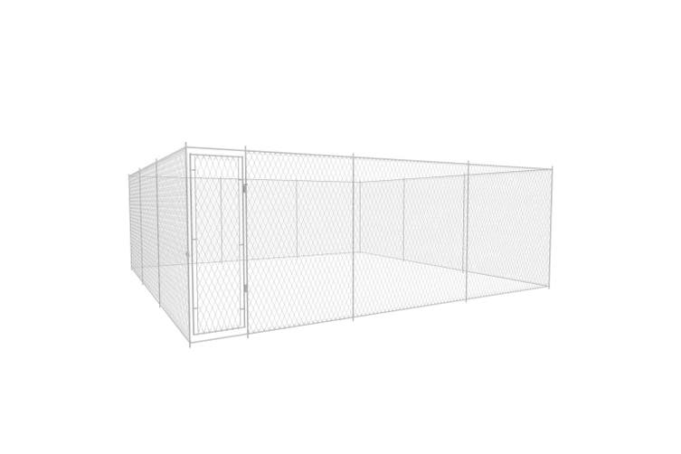 Outdoor Dog Kennel Galvanised Steel 570x570x185 cm