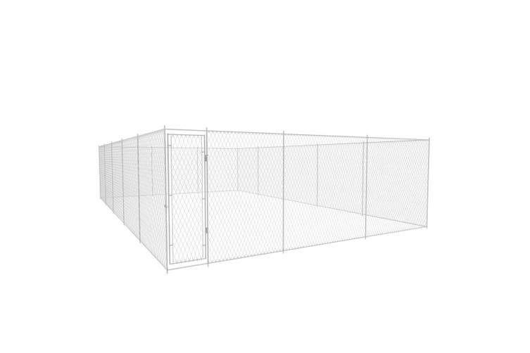Outdoor Dog Kennel Galvanised Steel 950x570x185 cm