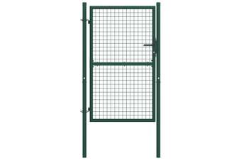 Fence Gate Steel 100x150 cm Green