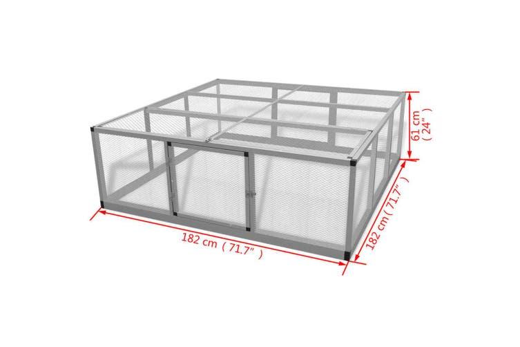 Chicken Coop Aluminium 182x182x61 cm