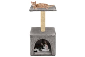 Cat Tree with Sisal Scratching Post 55 cm Grey