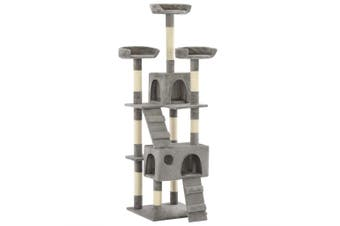 Cat Tree with Sisal Scratching Posts 170 cm Grey