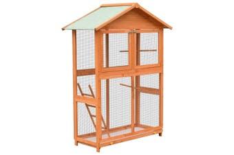 Bird Cage Solid Pine & Fir Wood 120x60x168 cm