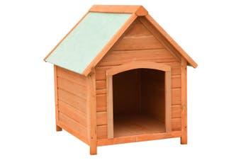 Dog House Solid Pine & Fir Wood 72x85x82 cm