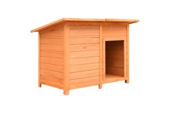 Dog Cage Solid Pine & Fir Wood 120x77x86 cm