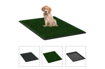 Pet Toilet with Tray and Artificial Turf Green 76x51x3 cm WC