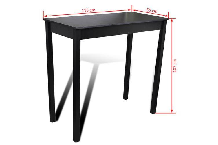 Bar Table MDF Black 115x55x107 cm