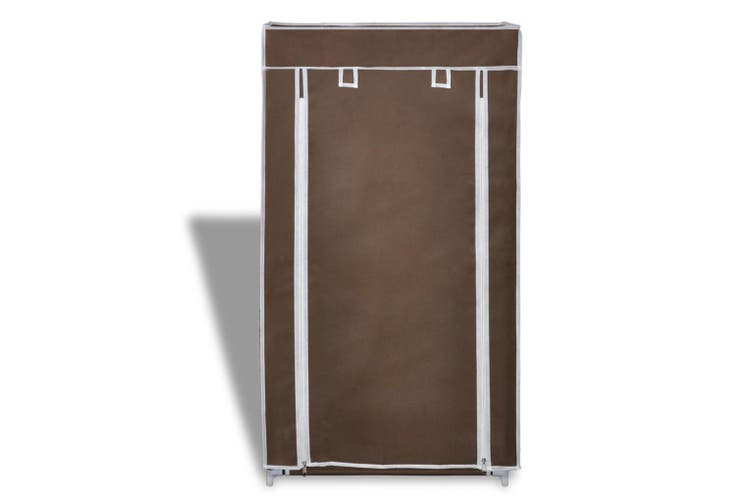 Shoe Cabinet with Cover 58 x 28 x 106 cm Brown Fabric