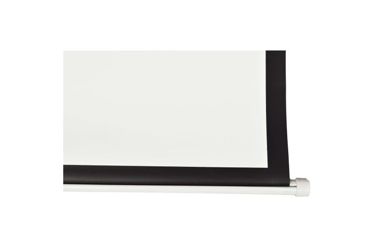 Manual Projection Screen 160 x 160 cm Matt White 1:1 Wall Ceiling Mount