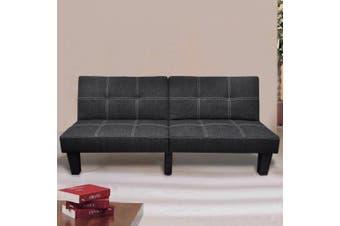 Sofa Bed Fabric Adjustable Black