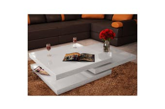 Coffee Table 3 Tiers High Gloss White