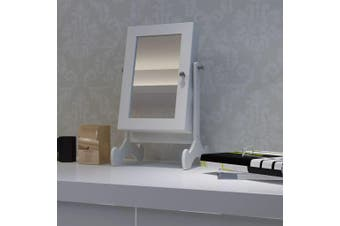 Tabletop Wooden Jewellery Cabinet with Mirror