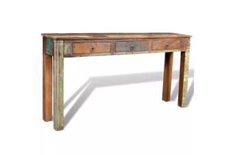 Console Table with 3 Drawers Reclaimed Wood